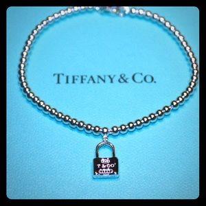 💝AUTHENTIC TIFFANY & Co beaded pad lock bracelet